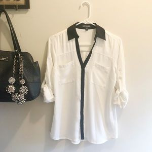 Express Portifino Shirt White and Black